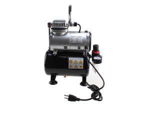 New Powerful Airbrush Air Compressor w-3.5L Tank Air Regulator-Filter Free Hose