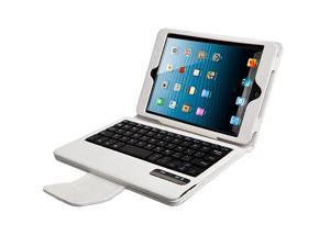 AGPtek Protective Case with Detachable Wireless Bluetooth Keyboard for Apple iPad Mini (White)