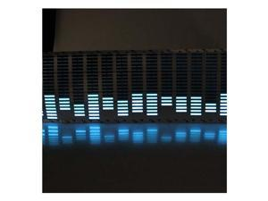 Sound Activated Blue 12V LED Equalizer Car Stickers 80cm x 19cm