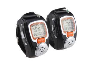 AGPtek 2-Way Wrist Watch Walkie Talkie, Pair (Orange)