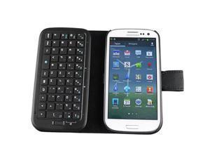 Slim Wireless Bluetooth Keyboard Leather Case for Samsung Galaxy SIII S3 I9300