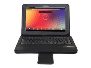 "Wireless Bluetooth 3.0 Keyboard + Folding Leather Protective Cover for Google Nexus 10"" Tablet"