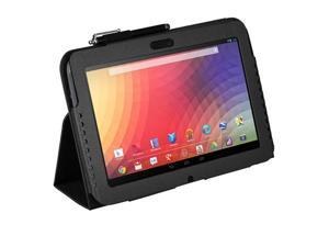 Slim Fit Folio PU Leather Case Cover w/ Stand for Google Nexus 10 Tablet