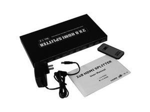 HDMI Splitter 2x8 HDMI Audio/Video Splitter 2 input HDMI to 8 HDTVs V1.3 & 1080P