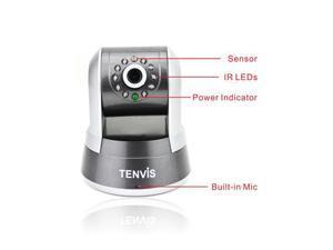 TENVIS IPRobot 3 New P2P H.264 1 Mega Pixels Wireless Indoor IR WiFi IP Network Camera CCTV - Night Vision