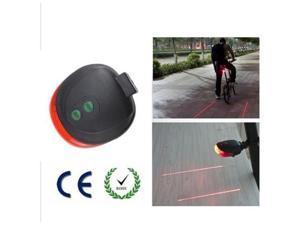 AGPtek Bike Bicycle Laser Beam LED Flash Safety Rear Tail Light Lamp