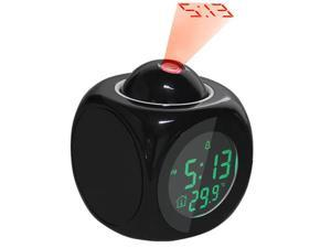 AGPtek HF52 Vibe LCD Talking Projection Alarm Clock- Time & Temp Display