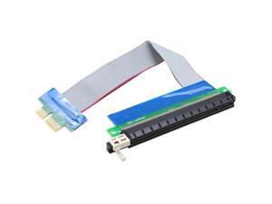 PCI-e 1X to 16X Slot Riser Card Extender Extension Cable Flexible Cable