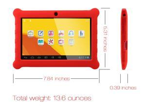 "AGPtek 7"" -inch 4GB WiFi Capacitive Full Touch Screen Android 4.1 Kids Tablet Child Tablet Children Tablet w/ Protect Red ..."