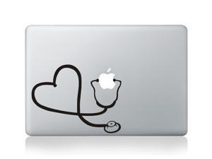 "Stethoscope Heart Vinyl Decal Sticker Skin for Apple MacBook Pro Air Mac 13"" inch"