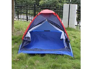Waterproof 2 Person Single Layer Family Outdoor Hiking Camping Folding Tent