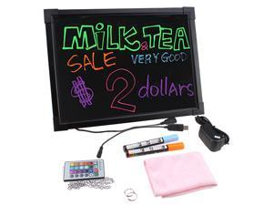 "12""x16"" Flashing Illuminated Erasable Message Restaurant Business Party LED Writing Menu Board"