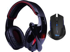 E-3lue E-blue Mazer 2500DPI USB 2.4GHz Wireless Optical Gaming Mouse+Bluedio R+Sades Over Ear Surround Sound PC Gaming Headset ...