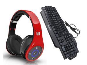 Bluedio R+ 8 Sound Tracks Bluetooth 4.0 Circumaural Wireless Gaming Headset+ORICO GK800 Multimedia Ergonomic USB Wired Gaming ...