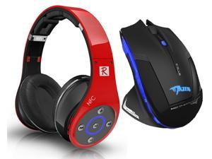 E-3lue E-blue Mazer 2500DPI USB 2.4GHz Wireless Optical Gaming Mouse+Bluedio R+ 8 Sound Tracks Bluetooth 4.0 Circumaural ...