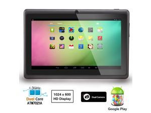 "AGPtek 7"" Android 4.2 Dual Core 4GB Tablet with Dual Camera - Wi-Fi, Up to 32GB, 1024*600, Google Play/Amazon Kindle Pre-Installed, ..."