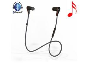 AGPtek HA0028-GL Bluetooth 4.0 Wireless Stereo Sport In-Ear Earbud Headset with Mic for All Bluetooth Devices - Black