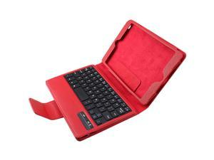 AGPtek Protective Case with Detachable Wireless Bluetooth Keyboard for Apple iPad Mini (Red)
