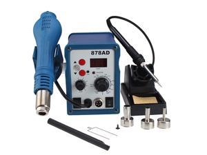 AGPtek SMD Hot Air Gun Iron Desolder Soldering Rework Station Brushless Ball ESD BGA