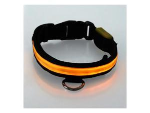 20''-24'' Large Size LED Yellow Flashing Light Adjustable Fashion Pets Dog Collar Belt