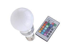 Wireless Remote Control 16 color LED Light Bulb E27 3W for Xmas/Chrismas Party or Festival