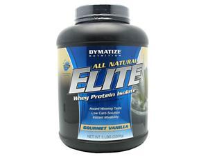 All Natural Elite Whey Protein, Aspartame Free, Gourmet Vanilla, 5 lbs, From Dymatize Nutrition