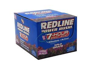 Redline Power Rush, Zero Sugar, Grape, 2.5 oz. Bottle, 24 Shots, From VPX
