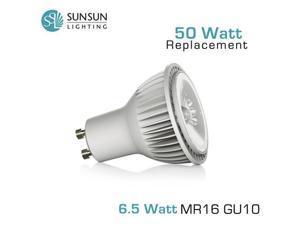 SUNSUN Lighting MR16 GU10 Base - 6.5 Watt - 420 Lumens - Warm White (3000K) - 25 Degree - 50 Watt Equal