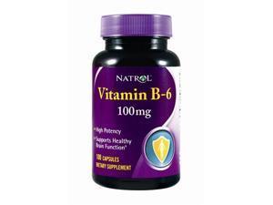 Natrol, VitaminB-6 100mg 100 Capsules