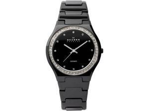 Skagen Black Ceramic with Crystals Black Dial Women's watch #813LXBC