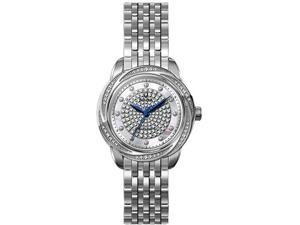 Bulova Brightwater Precisionist Diamond Accent Pearl Dial Ladies Watch 96R154