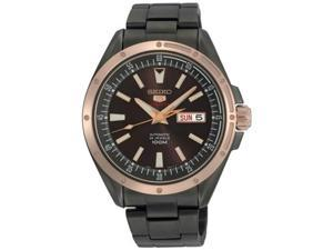Black Stainless Steel Automatic Rose Two Tone Brown Dial