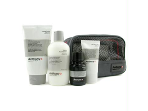 Logistics For Men The Perfect Shave Kit: Cleanser + Pre-Shave Oil + Shave Cream + After Shave Cream + Bag - 4pcs+1bag