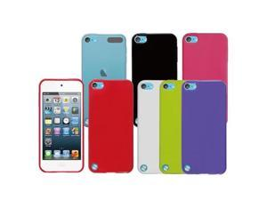 [ZIYA] 2pcs x Apple iPod Touch 5 TPU Rubber soft case (Rainbow Series) Pink + Clear