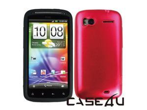 [CASE4U] HTC Sensation Metal Case- Red (Silicon inner)+ Screen Protector Skin