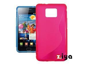 [ZIYA] Samsung Galaxy S 2 TPU Case- Pink (S Shape)