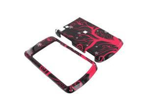 Motorola Stature i9 Plastic Case  - Hot Pink Tree on Black
