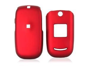 Cricket A200 Rubberized Hard Plastic Case - Red