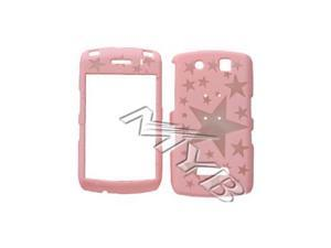 Blackberry Storm 9530 Illusion Plastic Case - Clear Stars on Baby Pink