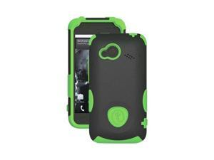 Trident Aegis HTC Droid Incredible 4g LTE Plastic Snap On Snap On Cover Over Silicone W/ Screen Protector Film Guard - Lime ...