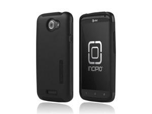 Incipio Silicrylic HTC One X Plastic Snap On Snap On Cover On Silicone W/ Screen Protector Film Guard - Black