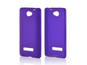 Purple Silicone Case for HTC 8V