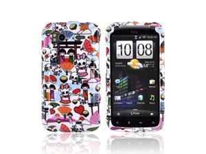 Kawaii Baby Skull White Hard Plastic Snap On Case Cover For HTC Sensation 4G