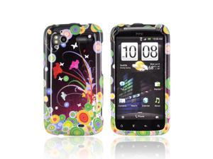 Flower Art Circles Hard Plastic Snap On Case Cover For HTC Sensation 4G