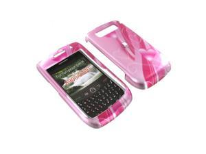 Blackberry Curve 8900 Plastic Case  - Pink Heart Trail