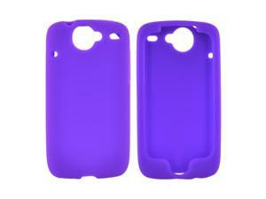 HTC Google Nexus 1 Rubbery Feel Silicone Skin Case Cover, Rubber Skin - Purple