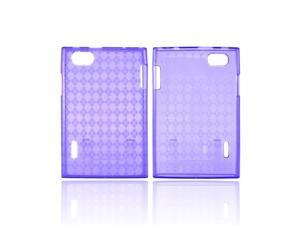 Argyle Purple LG Optimus Vu VS950 Crystal Silicone Case