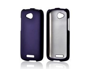 Purple Rubberized Hard Plastic Case Snap On Cover For HTC One VX