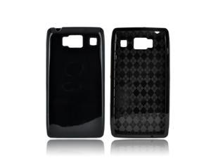 Motorola Droid RAZR HD Crystal Silicone Case - Argyle Black