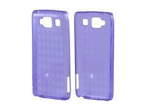 Motorola Droid RAZR MAXX HD Crystal Rubbery Feel Silicone Skin Case Cover - Argyle Purple